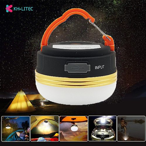 KHLITEC Mini Portable Camping Lights 3W LED Camping Lantern Tents lamp Outdoor Hiking Night Hanging lamp USB Rechargeable