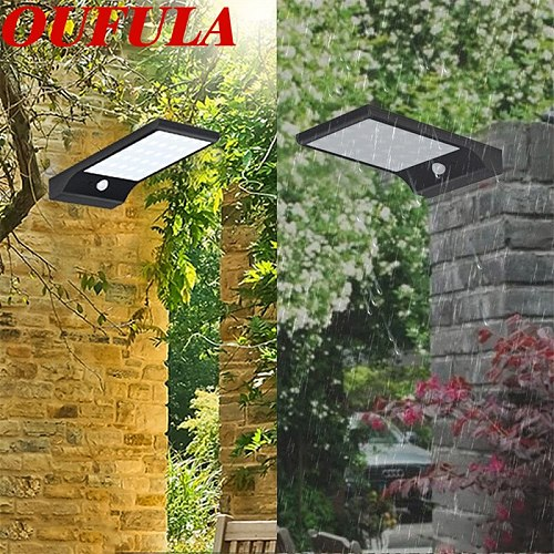 DLMH Solar Wall Lamps Outdoor Waterproof Garden  Lamp Flat Ultra-Thin Induction Lamp For Patio Porch
