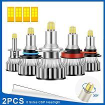 2x H7 H8 H1 LED Bulbs Car Headlights H11 9005 9006 48W Auto Headlamp 6000k white For Mercedes W203 W204 W205 C Class 2001-2017