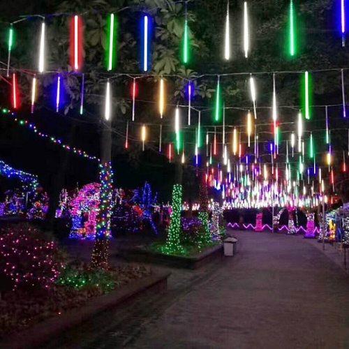 30/50cm Meteor Shower Rain 8 Tubes LED String Lights Waterproof Christmas Outdoor Patio Decorations Wedding Navidad Tree Holiday
