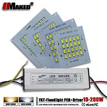 1Set Full Watt LED PCB10W 20W 30W 50W 100W 150W 200W High Power COB SMD 5730 Chips with Driver For Floodlight Spotlight Rplace