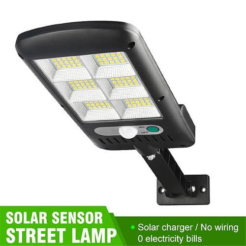 150 COB Solar Street Lights Outdoor Security Light Wall Lamp Waterproof PIR Motion Sensor Smart Remote Control Lamp 500-1000W