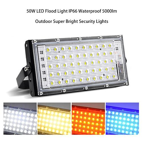 AC 220V LED Security Floodlight 50W Flood Lights Indoor Outdoor Garden Waterproof Lamp Garden Decoration Spotlight
