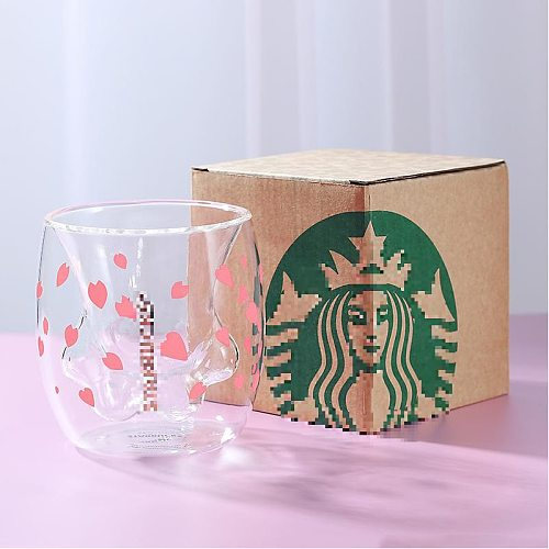 Cat Claw/Paw Cup Double Glass Coffee Mug Cartoon Cute Cat Milk Juice Cup Home Office Cafe Tazas Best Gift for Festival