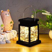 Solar Garden Light Palace lantern Chandelier Outdoor Courtyard Decoration Lamp Waterproof Hanging Tree Star Lamp