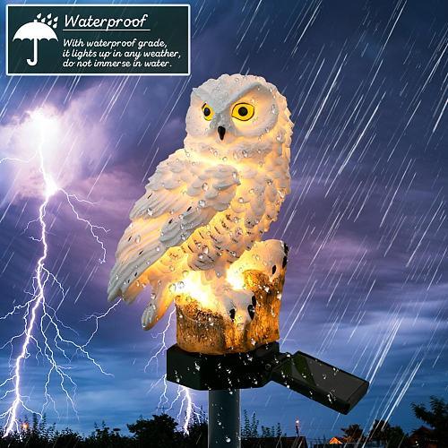 Solar Power LED Owl Lawn Light Outdoor Waterproof Garden Landscape Lamp IP65 Outdoor Led Path Lawn Home Decor