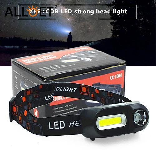 COB LED Headlight Headlamp Flashlight USB Rechargeable Torch Camping Hiking Night Fishing Light