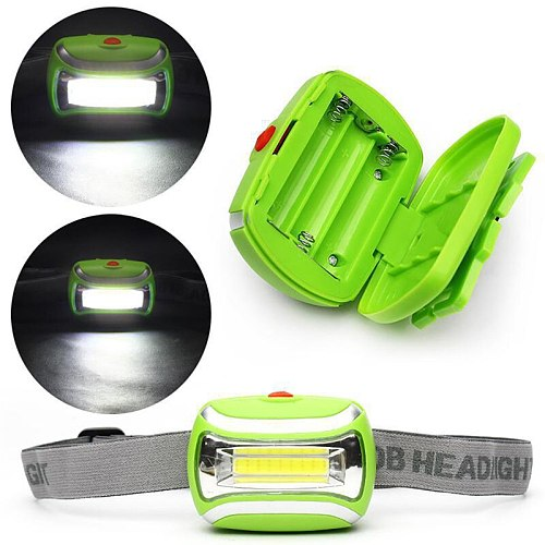 New Waterproof 600LM COB Headlight Mini LED Light Outdoor Camping Hiking Head Lamp For Hiking Camping Riding Fishing