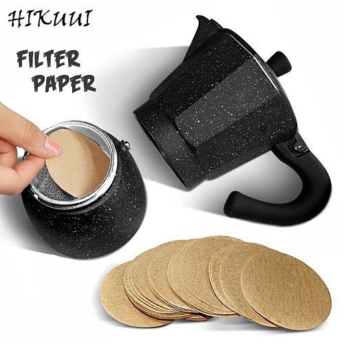 100pcs Japan Original Round Coffee Filter Paper Moka Pot Coffee Maker Filter Circular Hand-poured Coffee Tools  No.3 /No.6 /No.9