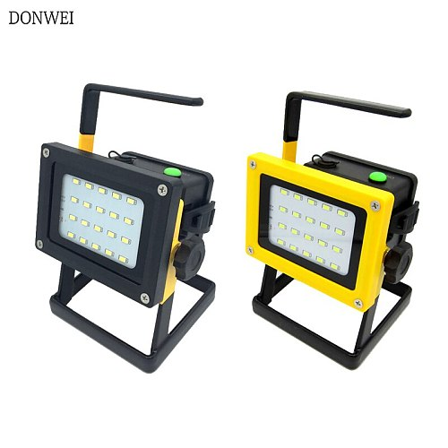 30W LED Portable Spotlight Rechargeable Outdoor Working Light For Hunting Camping Lamp Floodlight power by 3x 18650 battery