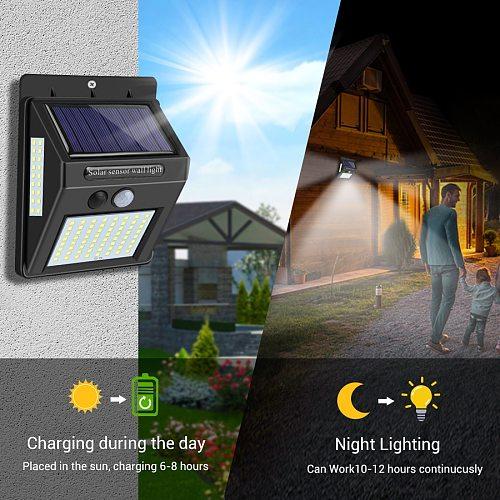 20-100 LED Solar Light Outdoor Solar Lamp PIR Motion Sensor Wall Light Waterproof Solar Sunlight Powered Garden street light