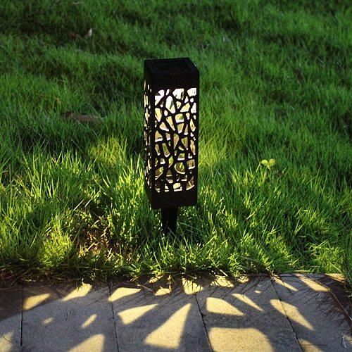 Creatives Light Control Induction Lawn Garden Light Hollow Outdoor Waterproof Solar Light L5