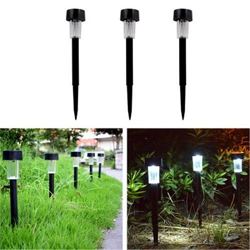 LED Solar Garden Lights Outdoor Solar Powered Lamp Lantern Waterproof Landscape Lighting for Pathway Patio Yard Lawn Decoration