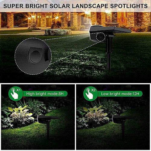 40 LED Outdoor Solar Lamp Automatically On/Off Solar Lawn Landscape Spotlights IP65 Waterproof Wall Light Garden Night Lights