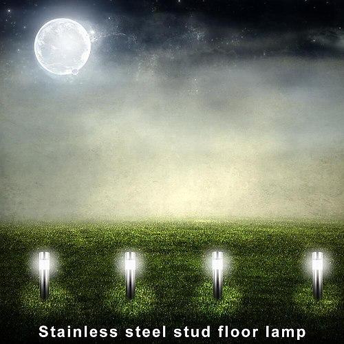 Stainless Steel Solar Lawn Light Waterproof Garden Soar Motion Sensor Lawn Light Energy-saving Solar Lamps for Garden Yard Lawn