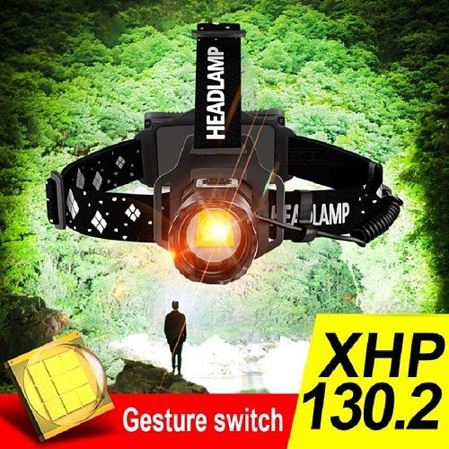 XHP130.2 High power Led Headlamp Flashlight XHP90.2 Led Headlight 18650 Rechargeable USB Head lamp xhp70 Zoom fishing Head Torch