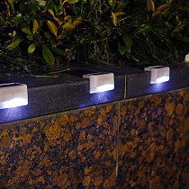 4pcs LED Solar Stair Lamp IP65 Waterproof Outdoor Garden Pathway Yard Patio Stairs Steps Fence Lamps Solar Night Light