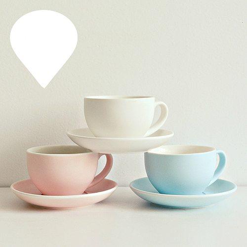 Creative Ceramics Coffee Cup Saucer Sets Espresso Cafe Mug Restaurant Milk Cappuccino Latte Coffee Mug Bring Spoon Saucer 200ML