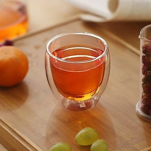 Double Wall Glass Clear Handmade Heat Resistant Tea Drink Cups Healthy Drink Mug Coffee Cups Insulated Shot Glass