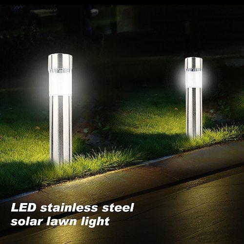 Stainless Steel LED Solar Lawn Lamp Outdoor Ground Garden Light Waterproof for Solar Bollard Garden Landscape Patio Path Lamp