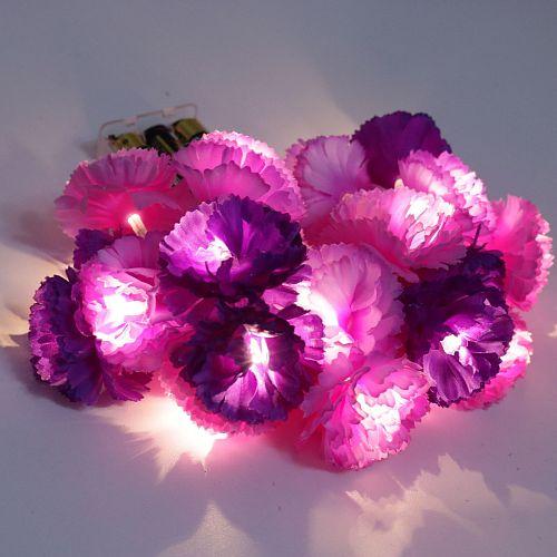 Led purple string light simulation rose flower string lamp wedding decoration