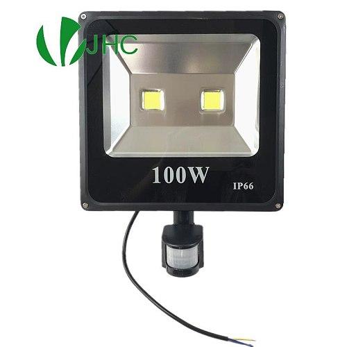 PIR Led Floodlight 10W 20W 30W 50W 220V Outdoor Spotlight 100W Searchlight With Motion Sensor Professional Lamp Street light