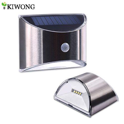 LED Solar Light PIR Motion Sensor Waterproof Outdoor Wall Lights Stainless Steel Shell Lighting For Garden Home Use New