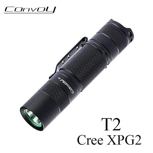 Flashlight Convoy T2 Cree XPG2 Lanterna LED Mini Torch 14500/AA Version Flash Light Lantern Powerful Portable Camp Work Light