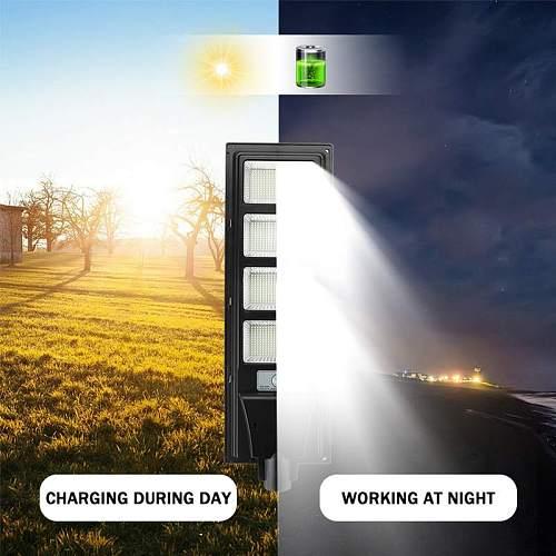 Solar LED Light Outdoor Lighting 800W 1000W 1200W 1500W Street Lamp Remote Control Waterproof Garden Wall Lamp with Radar Sensor