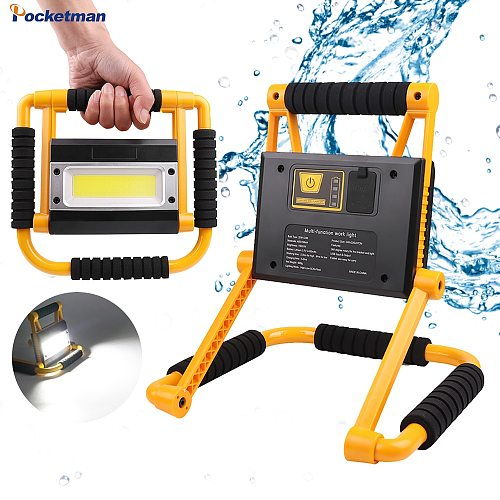 200W Portable Work Light Portable Spotlight Cob Work Lamp Rechargeable Flashlight Waterproof Camping Lamp Outdoor Searchlight