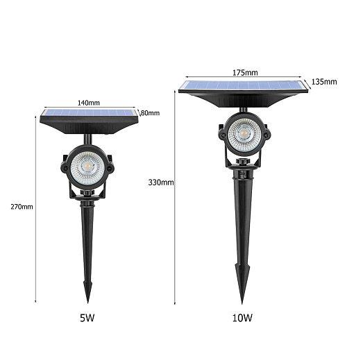 Solar Lawn Light Outdoor LED Spike Lamp 5W 10W Waterproof Pathway Bulb Spotlight LED Spot Light Garden Path Landscape Lights