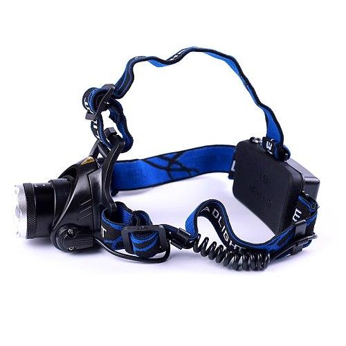 Led Headlight XM-L T6 LED 2000LM Headlamp Light Zoomable Lantern Camping Hunting Flashlight Torch