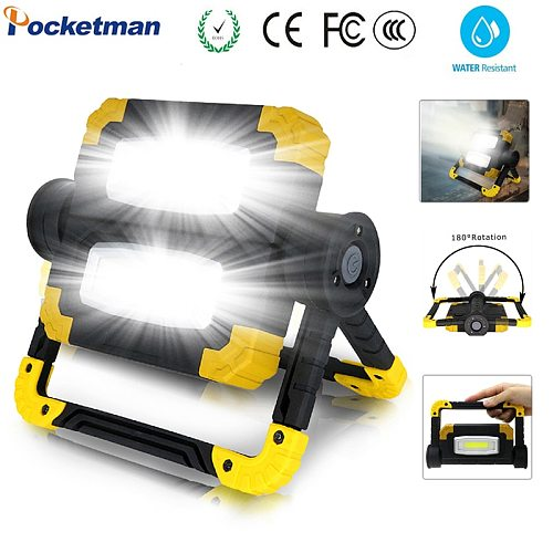 180W Led Portable Spotlight Searchlight Led Work Light  Led Waterproof Work Light use 4*AA Battery For Repairing Camping