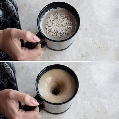 Self Stirring Coffee Mug Cup Electric Stainless Steel Automatic Self Mixing Spinning Home Office Travel Mixer Milk Whisk Cup Mug