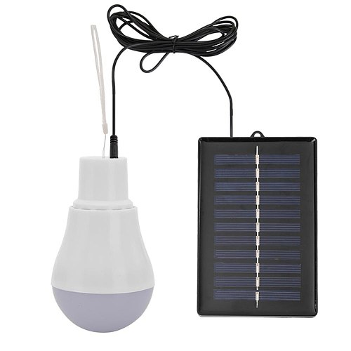 15W 300LM Low Power Consumption LED Bulbs Portable Solar Energy Power Lamps USB Rechargeable Long Life Outdoor Lighting