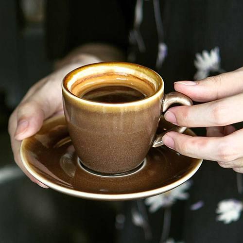 European Ceramic Coffee Cup Saucer Set Latte Cappuccino Coffee Mug Expresso Cup Home Cafe Teacup Coffeeware Set 90/220/320ml