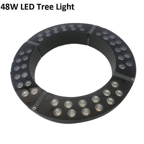 48W Led Tree Light Outdoor Spotlight floodlight For Tree lighting IP65 Waterproof Warm White Cold White Ac85-265V DC12V DC24V