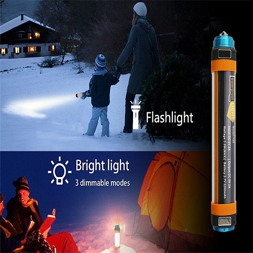SXZM USB Rechargeable Camping Lantern Portable Powerful Magnet Light Outdoor Waterproof Flashlight For Fishing Tent Trips Camp