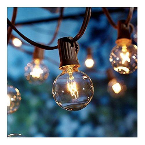 luces led decoracion terraza y jardin string lights guirnalda exterior mariage outdoor bulbs party rotin grilanda backyard