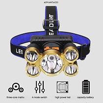Free Shipping to Russia High Power Headlamp Long Range Induction Night Fishing Headlights Small Miner Lantern with Motion Sensor