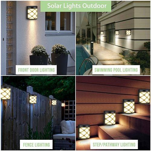 1PCS  LED Solar Light Retro Pane Light Motion Sensor Wall Light Outdoor Garden Yard Lamp Path Landscape Fence Lamps