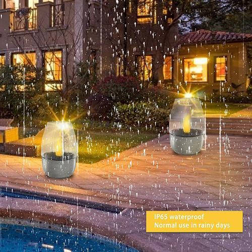 5 PCS 2V 400mAh Amorphous Silicon Solar Candle Light Waterproof Intelligent LED Decoration Lamp Lligt Dropship