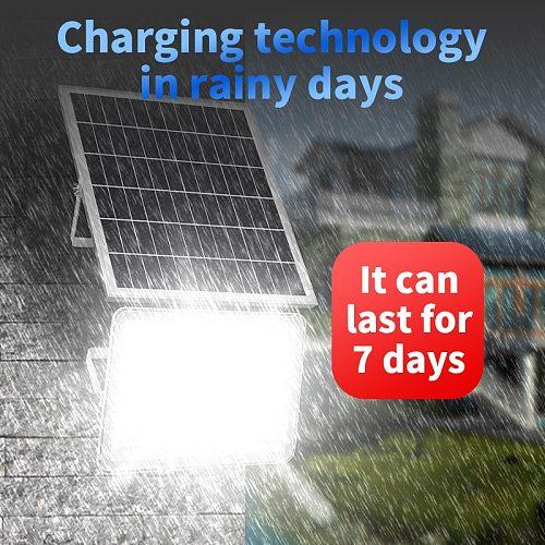 High-Power LED Solar Panel Light 5meter Cable Super Bright Outdoor Flood Garden Lamp 1000W Waterproof Street Night Lighting
