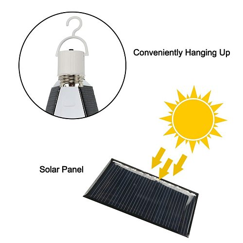 Solar light Outdoors  LED lighting portable garden corridor indoor emergency bulb lamp hanging light 1pcs