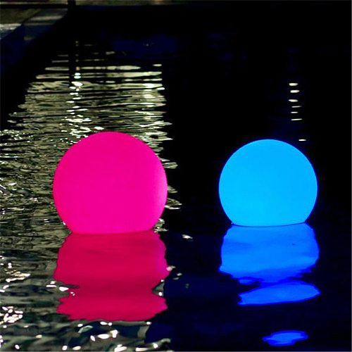 Waterproof LED Garden Ball Light Outdoor Lawn Lamps Rechargeable Christmas Party RGB Landscape Swimming Pool Floating Lights