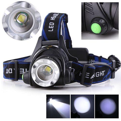 Anjoet LED headlamp fishing headlight T6/L2 3 modes Zoomable lamp Waterproof Head Torch flashlight Head lamp use 18650
