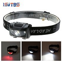 LED Headlamp 4 Colors Red Lights Super Bright Headlight Outdoors Waterproof Use 3*AAA Battery Camping Fishing Hiking Light