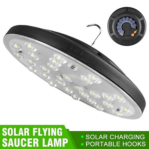 Ultra-thin Charging UFO Lamp USB Rechargeable Emergency Light Multifunctional Indoor Outdoor Camping Tent Chandelier Floodlights