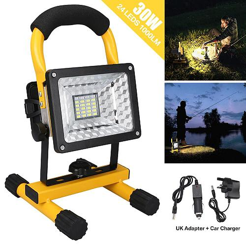 3 Modes COB LED Portable Spotlight Searchlight Camping Light Rechargeable Handheld Work Lights With Battery Waterproof Lantern