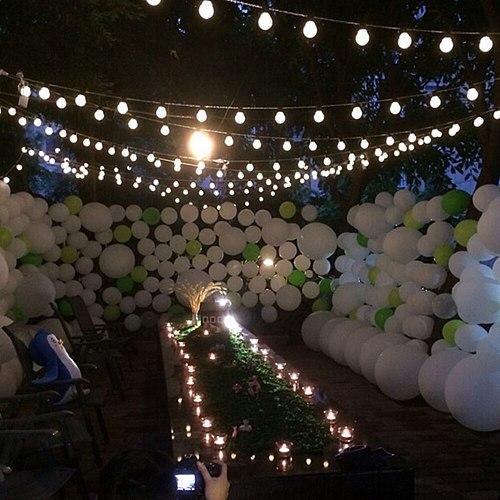 10M LED String Light Outdoor Fairy Lamp Garland G50 Bulbs Garden Patio Wedding Christmas Decoration Chain Waterproof